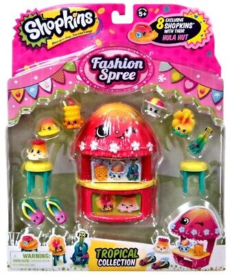 Shopkins Fashion Spree Tropical Collection Theme Pack - Tropical Themed Games