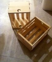 handcrafted wooden crates