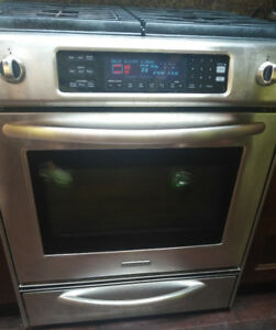 KitchenAid gas range with convection self clean oven