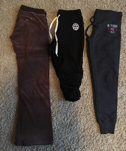 Ladies Women's Teen Girls Sweat Pants Crops - Sizes XS and Small