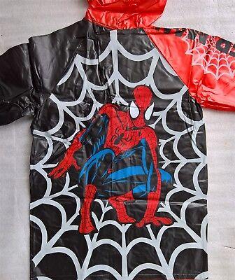 ~ Spiderman - GENUINE LICENSED BOYS CHILD KIDS RAIN COAT RAINCOAT JACKET Sz2-3