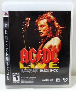 PS3 Rock Band Track Pack AC/DC Live With Manual