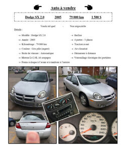Dodge SX 2.0, 2005, automatique