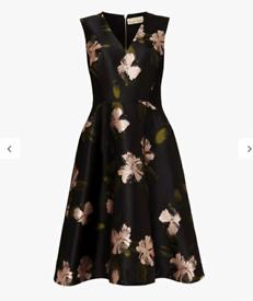 Phase Eight Black & Pink size 14 Dress