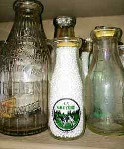Divers bouteille de lait et autres