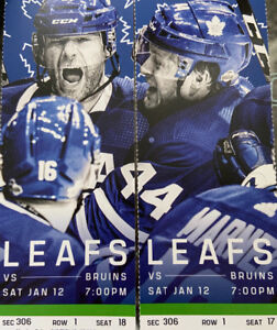 Toronto Maple Leafs vs. Boston Bruins - Saturday January 12