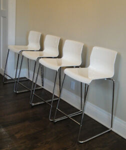 Ikea white dining chairs counter height