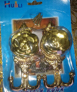 Curtain hold up Sets (Brand New) Gold