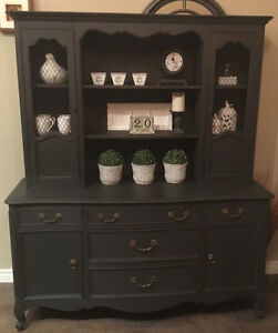 Gorgeous Chalk Painted Buffet & Hutch