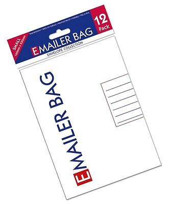 12 x New E Mailer White Mail Postal Bags Small High Quality Polybag 160 X 230mm