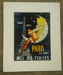 large matted art deco French print