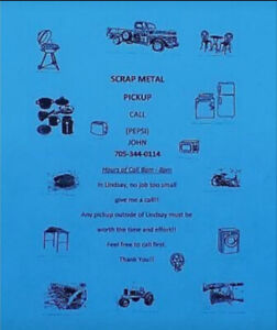 Free scrap metal pick up of all kinds.