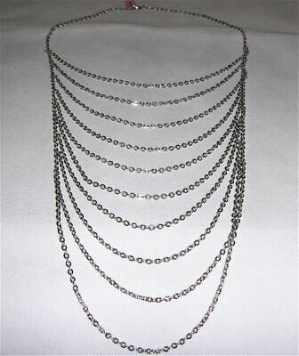 Necklace Multi/Drop Chain Silver Stainless Steel 21