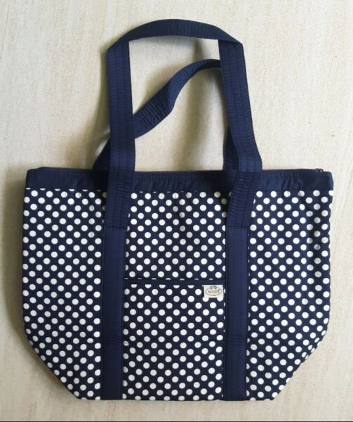 Naraya Cotton Tote Bag in Navy Blue with White Polka Dots (brand new) S$20  --> GSS Price!