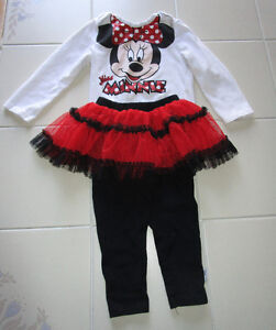 "Girls Disney ""Minnie Mouse"" 2pc outfit in size 18months"