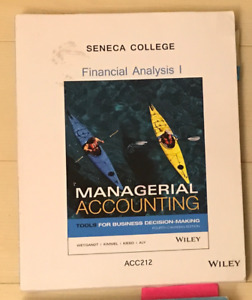 Financial Analysis I Managerial Accounting