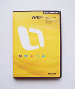 Microsoft Office Mac 2008 Home & Student - 3 Licences Install