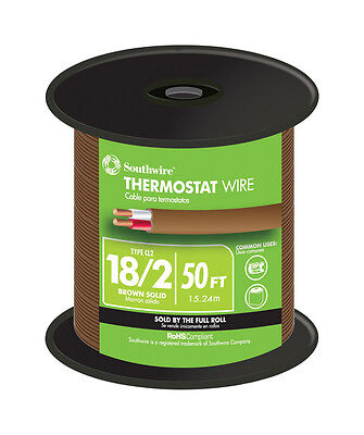 Southwire 50 Ft. 182 Copper Thermostat Wire Brown