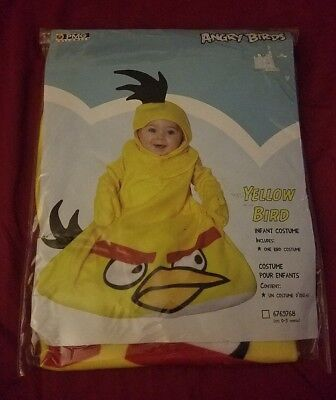 New Angry Birds infant halloween costume Yellow Bird 0-9 months