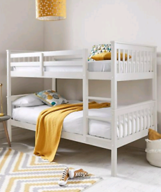 Novara Bunk beds Flatpack condition white or Grey Free local delivery