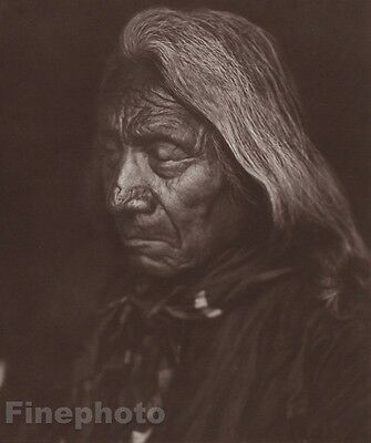 1900/72 Photo Gravure NATIVE AMERICAN INDIAN Chief Red Cloud EDWARD CURTIS 11x14