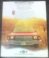 1975 Chevrolet Monte Carlo Car Brochure