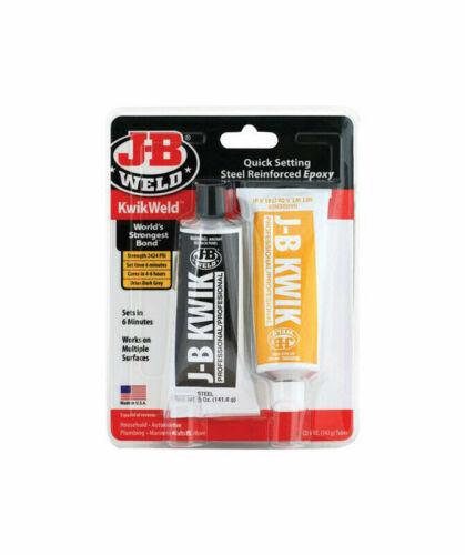 J-B Weld Kwik Weld 8271 Quick Setting Multi-Use Paste Adhesive Steel Epoxy 10 oz
