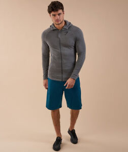 Gymshark - Fit Hooded Top - Charcoal Marl