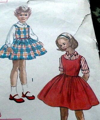 *LOVELY VTG 1950s GIRLS BLOUSE & JUMPER Sewing Pattern 2