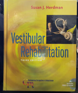 Vestibular Rehabilitation, 3rd Ed, by Herdman, hardcover, $50.00