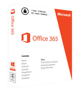Office 365 including 2016 MS Office - 5 PC / Instant Delivery