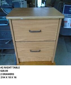 NIGHT TABLES  4 NIGHT TABLES