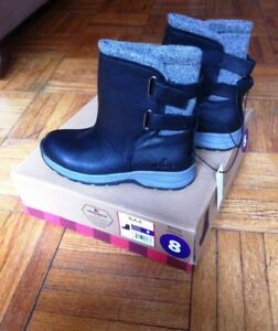 """Woolrich"" women leather winter boots, size 8 brand new"