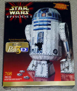 1999 Wrebbit Star Wars Episode 1 R2-D2 Puzz 3D Used Complete