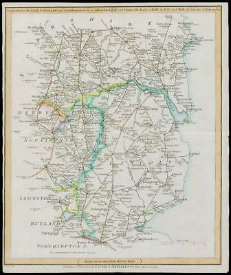 1806 Antique Road Map LINCOLNSHIRE YORKSHIRE NOTTINGHAMSHIRE Laurie Whittle (5)