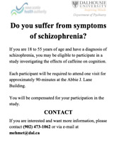 Study Participation: Are you diagnosed with schizophrenia?