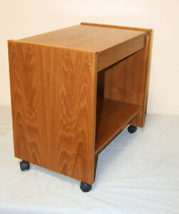 Handsome & Perfect Rolling 2 Level Teak Cart  SEE VIDEO