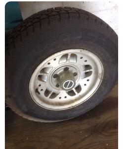 4 -5 bolt ford ranger tires and rims plus spare