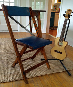 WANTED BUY BACK Vintage Folding Wooden Stadium Chair