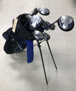 Used Dunlop DDH Left Hand Men's 11 Piece Golf Club Set With Bag