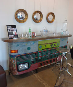 Unique bar made from Recycled Truck