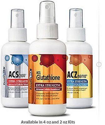 Results Rna Ultimate Body Detox 2 Oz Kit   Acz Nano Acs 200 Acg Glutathione  New