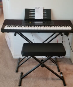 CASIO KEYBOARD WK-245 WITH STAND AND BENCH