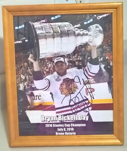 Bryan Bickell Day 2010 Stanley Cup Champion Signed Picture Frame