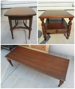 Vintage Coffee Table & 2 End Tables
