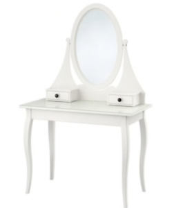 HEMNES: Dressing table with mirror, white