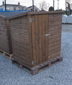 Med size wooden garden storage box small shed