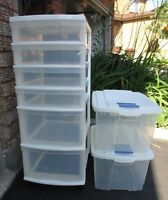 PLASTIC STORAGE CONTAINERS -- GREAT CONDITION !!