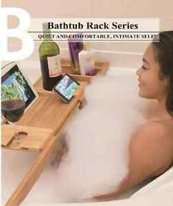 Bamboo Bathtub Caddy on promotion