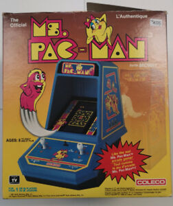 Ms. Pac - Man by Midway Coleco 1981 Table top arcade unit